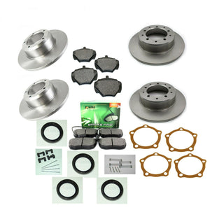 FRONT & REAR SOLID BRAKE DISCS & PADS KIT