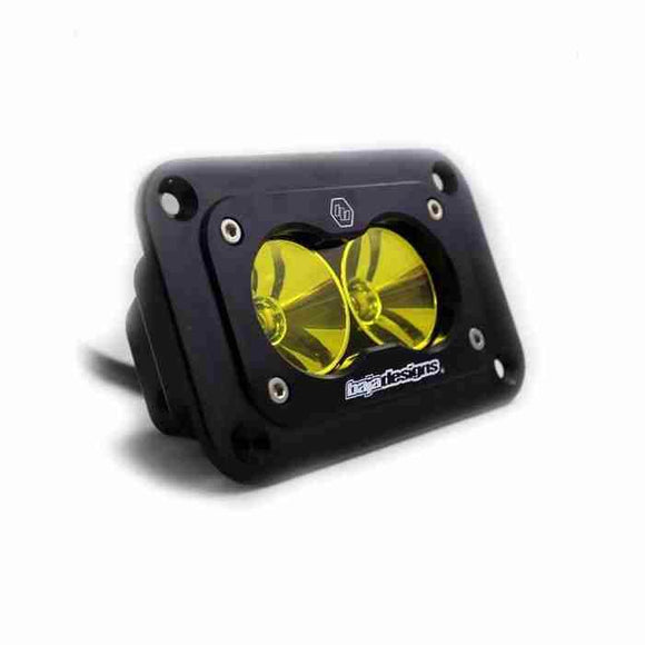 BAJA DESIGNS S2 PRO, LED FLOOD, AMBER, FLUSH MOUNT