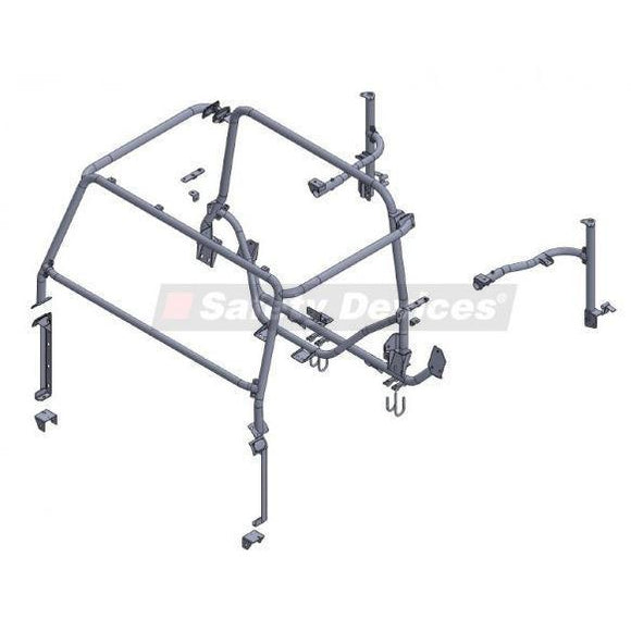 LAND ROVER DEFENDER 90 HARD TOP MULTI POINT BOLT-IN ROLL CAGE