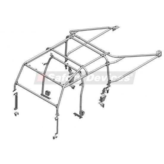 LAND ROVER DEFENDER 130 PUMA DOUBLE CAB HIGH CAPACITY PICK UP MULTI POINT BOLT-IN ROLL CAGE