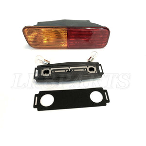 REAR BUMPER LIGHT XFB101490 WITH ELECTRICAL PLATE & BULBS