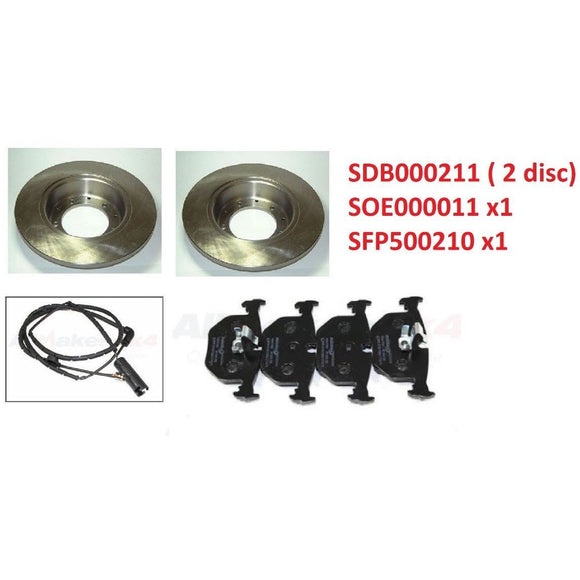 REAR BRAKE ROTOR DISC PADS with SENSOR