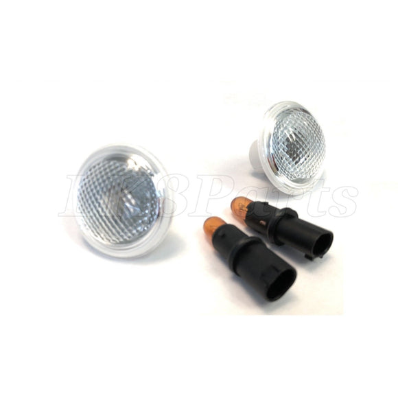 Clear Side Marker Repeater Lamp Set of 2