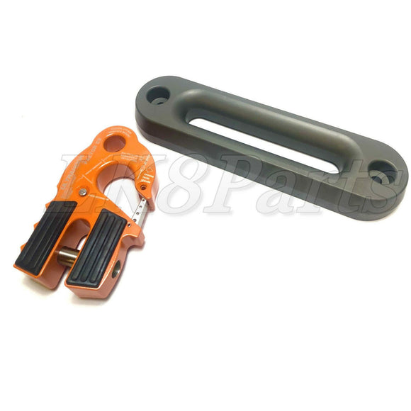 Factor 55 Orange UltraHook Winch Hook & Fairlead for Synthetic Rope Combo