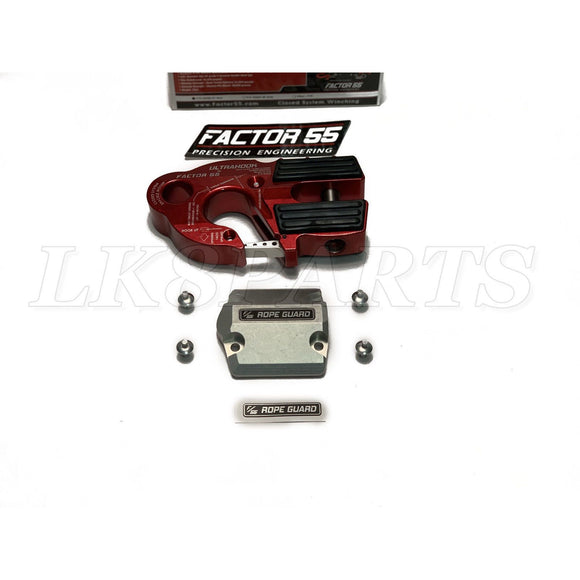 Factor 55 Red UltraHook Winch Hook & Rope Guard Combo