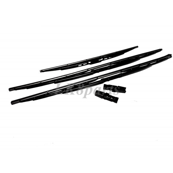 FRONT+ REAR WIPER BLADE SET & CLIPS