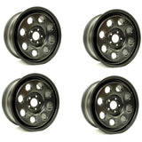 "18X8"" STEEL WHEEL SET OF 4 Black"