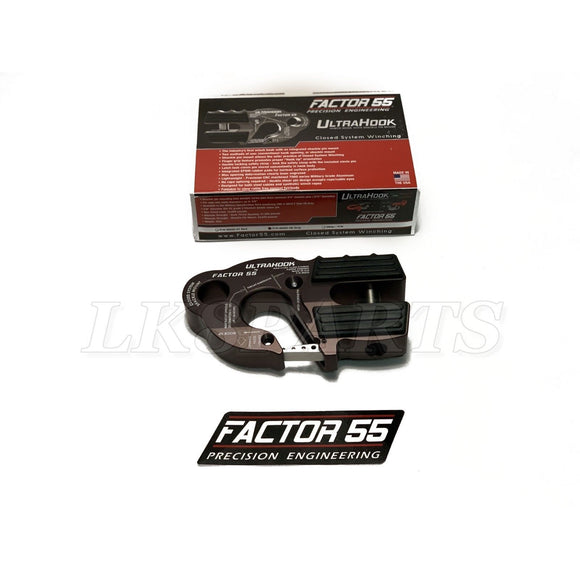 Factor 55 Gray UltraHook Winch Hook For Up To 3/8