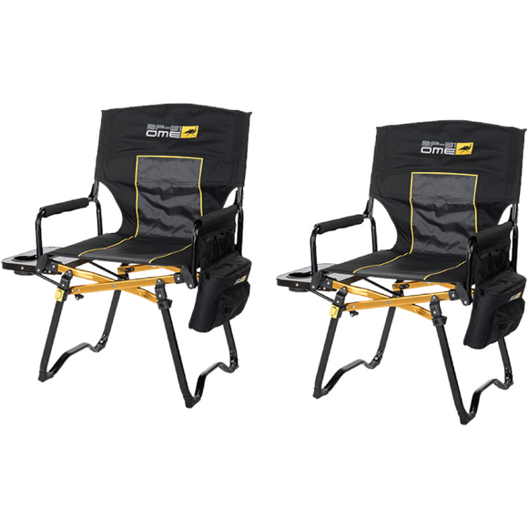 ARB Compact Directors Chairs - Black - Set of 2