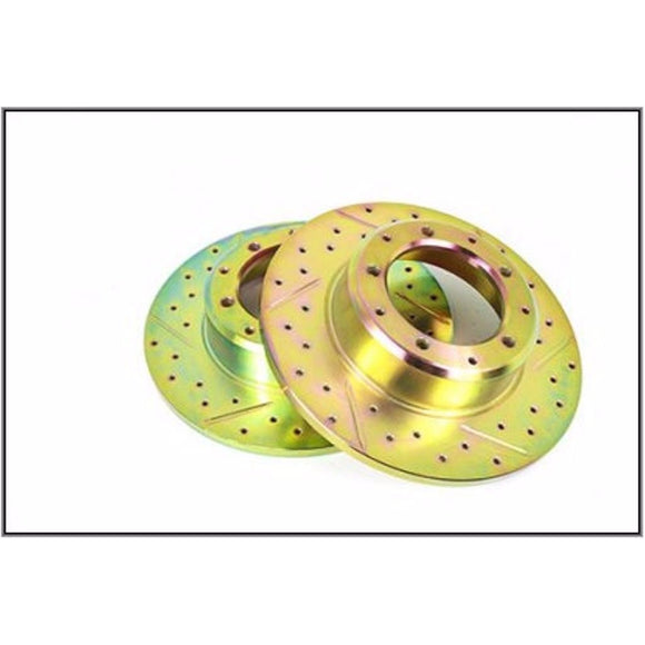 DRILLED REAR BRAKE ROTOR DISC SET x2