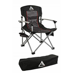 Air Locker Camping Chair with Storage Bag - Black New