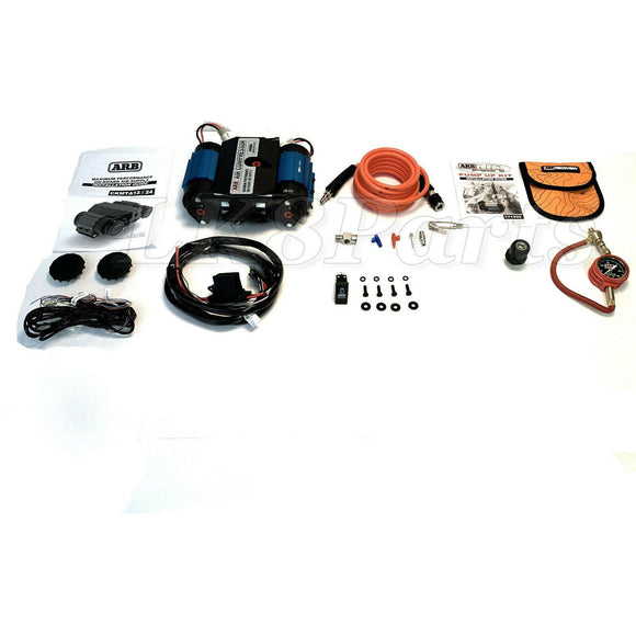 ARB 12V Twin Air Compressor, E-Z Tire Deflator & Pump Up Kit New