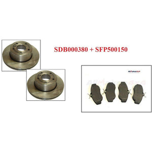 FRONT ROTOR DISC SET (2 pcs) + BRAKE PADS