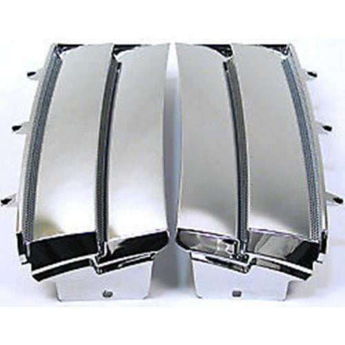CHROME GRILLE SIDE AIR POWER VENTS SET x2