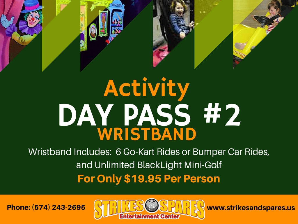 DAY PASS #2 ACTIVITY WRISTBAND