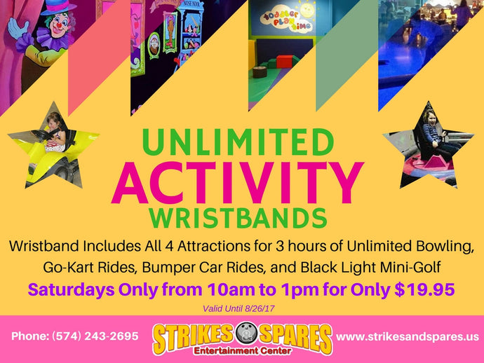 UNLIMITED ACTIVITY WRISTBANDS