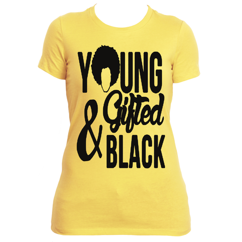 Young Gifted and Black Ladies Tee - Gifteedly Tee's & More