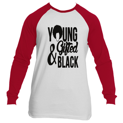 Young, Gifted and Black Raglan Male - Gifteedly Tee's & More