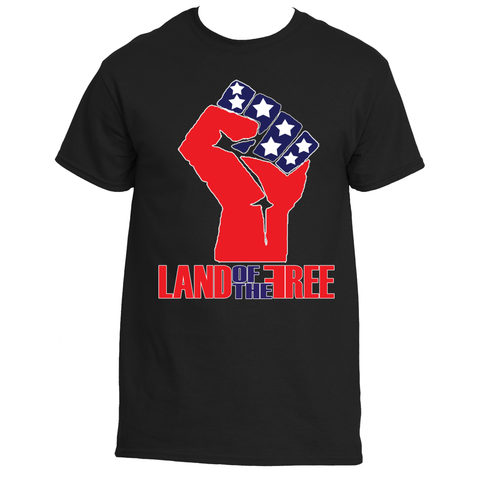 Land of the Free Black Power Tee