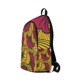 Red Flower Ankara Fabric Backpack for Adult