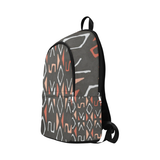 Mudcloth print Fabric Backpack for Adult