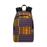 Blue Kente Print  Fabric Backpack for Adult