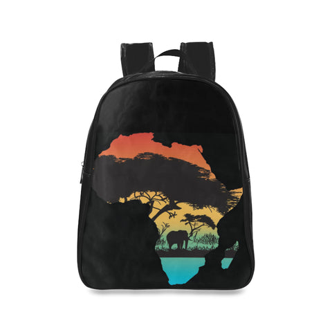 AfricaColorful Backpack School Backpack/Large (Model 1601)
