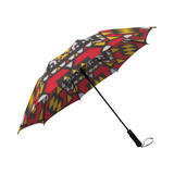 redblackyellowankaraumbrella Semi-Automatic Foldable Umbrella