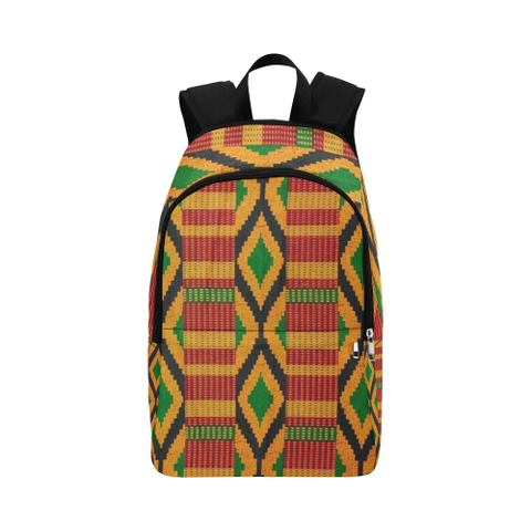 Diamond Kente Print Fabric Backpack for Adult