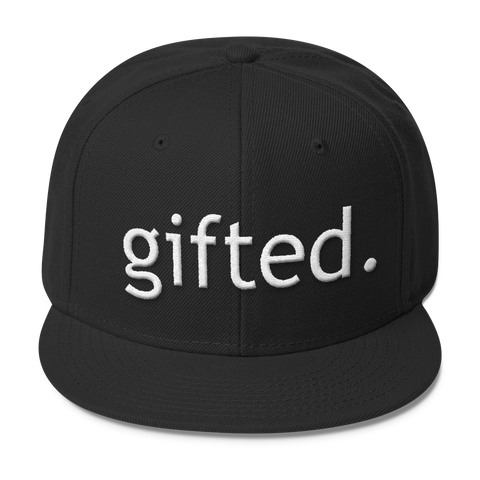 Tell the World You are Gifted with this Wool Blend Snapback in Multiple Colors