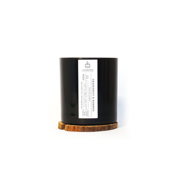 Candelles Candles - Black Label - Grapefruit & Bamboo Scented Soy Candle