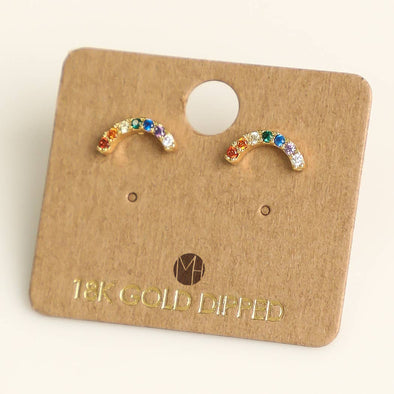 Mini Rainbow Stud Earrings