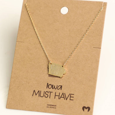State of Iowa Necklace