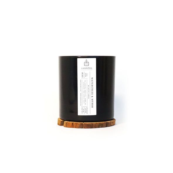Candelles Candles - Black Label - Watercress & Myrrh Scented Soy Candle