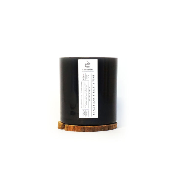 Candelles Candles - Black Label - Shea Butter & Rice Petals Scented Soy Candle