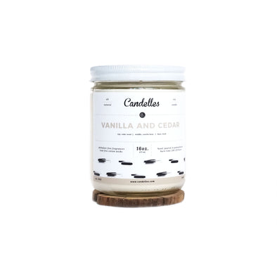 Candelles Candles - SUMMER - Vanilla And Cedar Scented Soy Candle - 16oz.