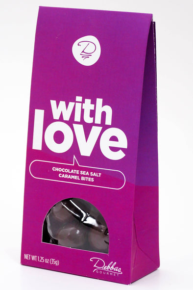 Debbas Gourmet - With Love Chocolate Sea Salt Caramel Bites : 1.25 oz