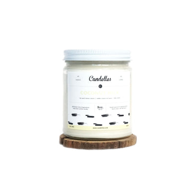 Candelles Candles - SUMMER - Coconut Milk Scented Soy Candle - 9oz.