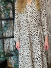 Lucky Leopard Midi Dress