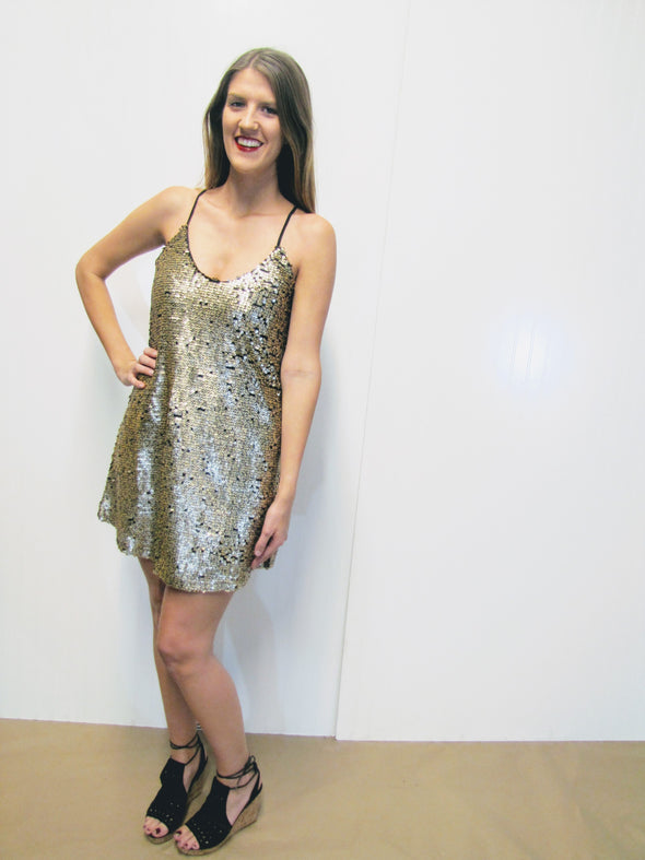 Shine out Shift Dress