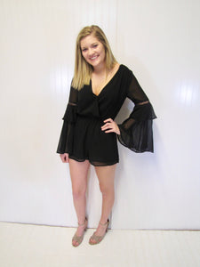 Tiered Black Romper