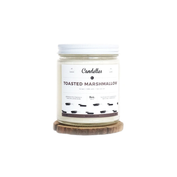 Candelles Candles - SUMMER - Toasted Marshmallow Scented Soy Candle - 9oz.