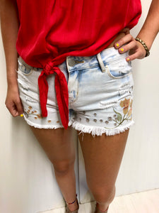 Bleached Fray Short