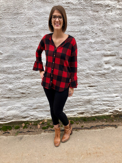 Jill Plaid Top