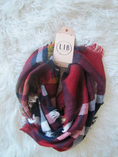 Plentiful Plaid Infinity Scarf