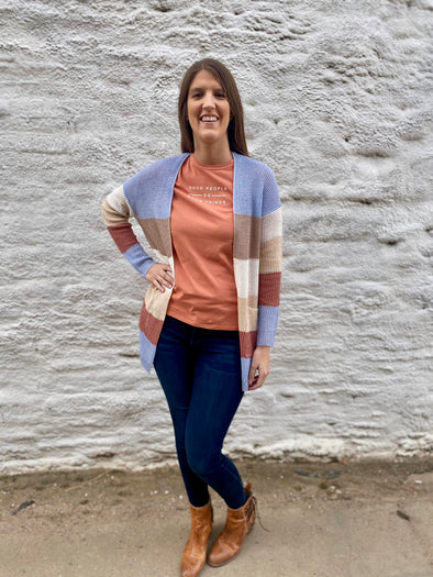 Sea Colorblock Cardigan