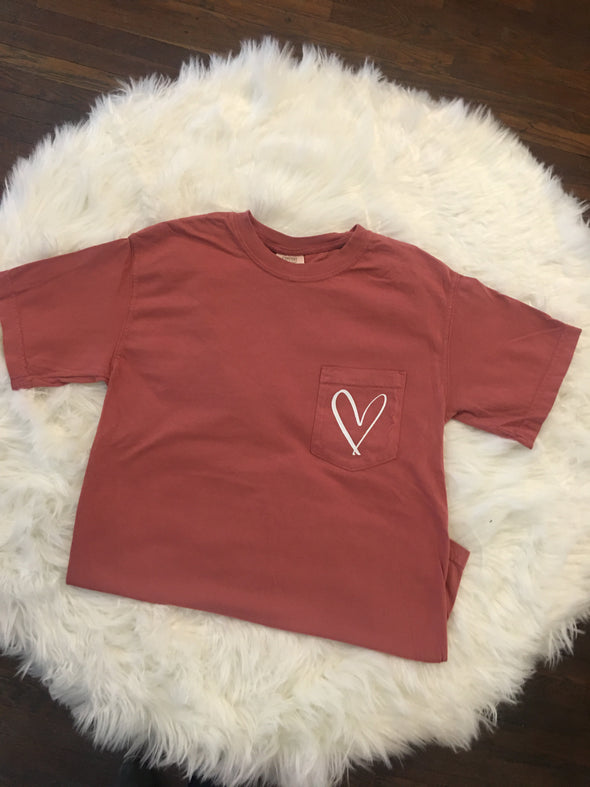 Heart Pocket Tee Comfort