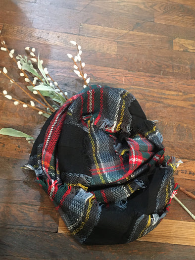 Multi Color Christmas Scarf
