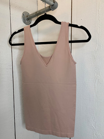 Seamless U-V Neck Tank