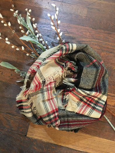 Holiday Plaid Infinity Scarf